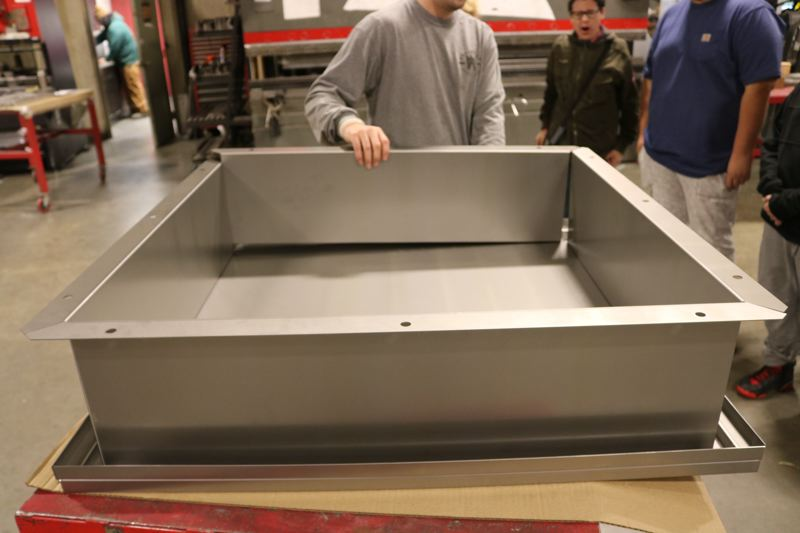 OUTLOOK PHOTO: ZANE SPARLING - The hatch, which hasnt been welded together yet, earned Clear Creek Middle School a $25,000 prize package from Samsungs Solve for Tomorrow competition.