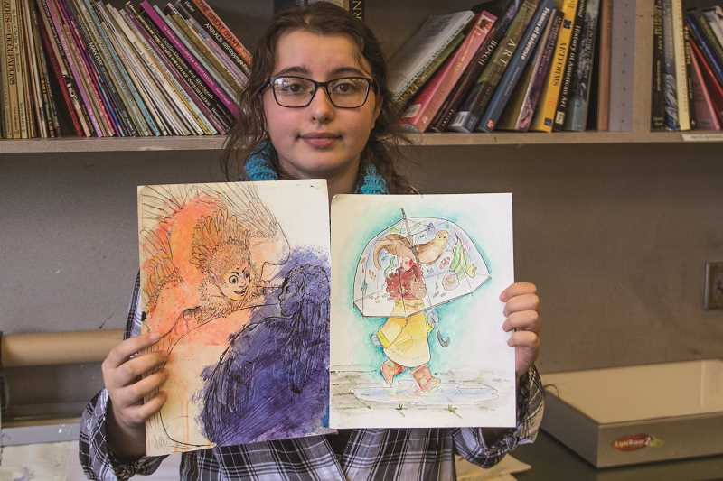 INDEPENDENT PHOTO: JULIA COMNES - WACA junior Julia Melkomukov won multiple awards for her drawings and illustrations, which are inspired by animations and books for children.