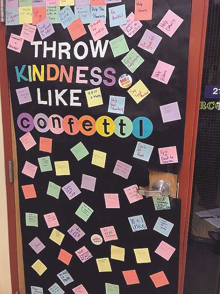 COURTESY PHOTO: NORTH MARION MIDDLE SCHOOL - Tracy Anderson's class at North Marion Middle School won the door kindness decorating contest.