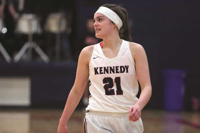 PHIL HAWKINS - Kennedy senior Hannah Arritola scored 12 points in last week's game against St. Paul and is one of six Trojan players who is averaging above or close to 10 points a game this season.