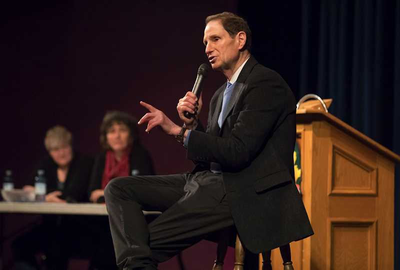 STAFF PHOTO: JONATHAN HOUSE - U.S. Senator Ron Wyden will host a town hall at Century High School on Sunday afternoon.
