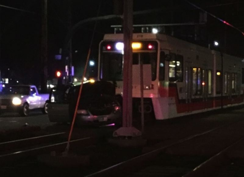 KOIN 6 NEWS PHOTO - No one on the train was injured during a crash involving a MAX train on Sunday, Jan. 28.