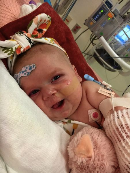 CONTRIBUTED PHOTO - Elena Rae Wright was born with a faulty heart nine weeks ago.