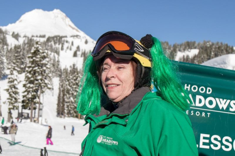 CONTRIBUTED PHOTO: MT. HOOD MEADOWS - Nancy Jo 'GG' Ludwig has worked for Mt. Hood Meadows as a ski school instructor for five years.