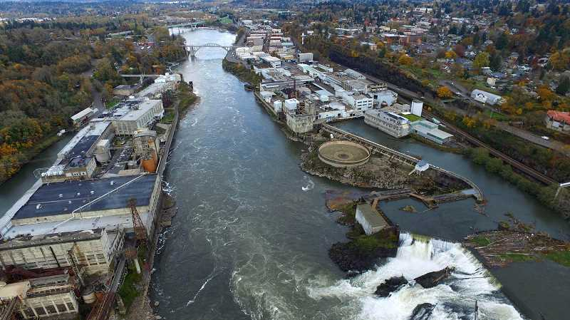 TIDINGS FILE PHOTO - The Willamette Falls Heritage Area Coalition is working to tell a multitude of stories from the region around the falls, though at a national level settlement has emerged as a primary theme.