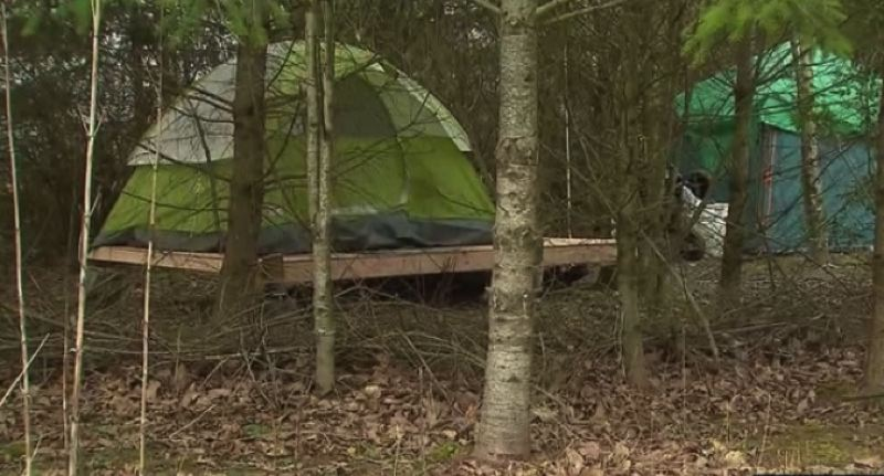 KOIN 6 NEWS PHOTO - Portland wants the 'village of hope' homeless camp to go away.