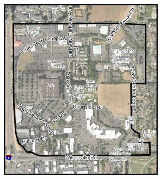 CITY OF WILSONVILLE - The City of Wilsonville studied the areas within this map for potential updates and development.