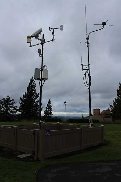 REVIEW PHOTO: ANTHONY MACUK - Each weather station has the same basic array of sensors, and a few have additional equipment to detect things like snow accumulation and moisture in the surrounding soil.