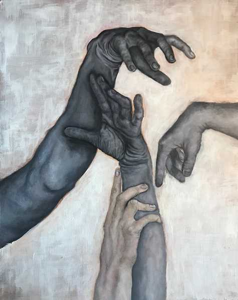 SUBMITTED PHOTO - Lake Oswego High School student Camilla Lui won a Gold Key for her work, entitled 'Hands.'