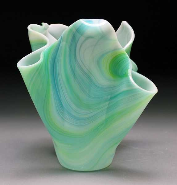 SUBMITTED PHOTO - Lakeridge ceramics student Jessica McIver received a Gold Key for her sculpture, 'Glass Vase.'