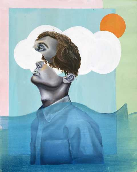 SUBMITTED PHOTO - 'Head in the Clouds,' a painting created by LOHS student Woo Kim, won a Gold Key.