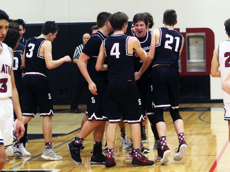 DAN BROOD - The Bowmen celebrate following the victory at Tualatin.