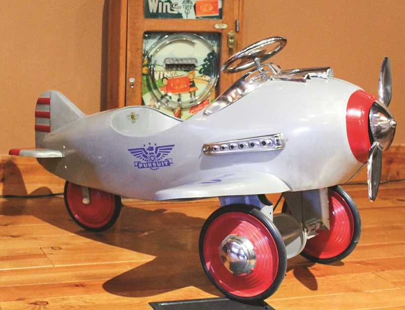 JASON CHANEY - A large pedal war plane is one antique toy slated for the new Toy Time exhibit.