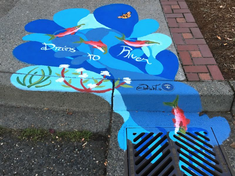 PHOTO COURTESY TUALATIN RIVERKEEPERS - An art competition has been announced to bring awareness to pollution streaming into city drains.