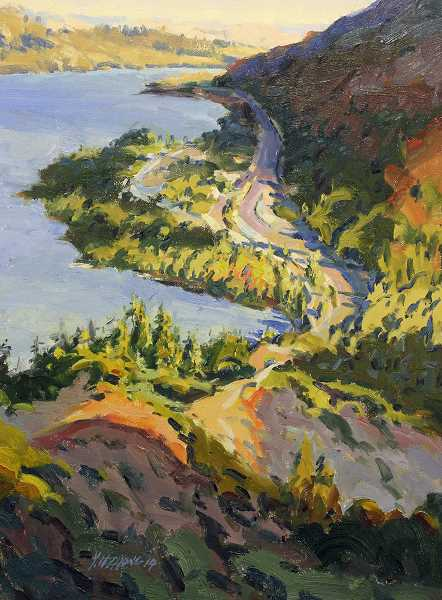 COURTESY PHOTO - Zhong's Rowena Crest oil painting captures the restlessness and beauty of nature.