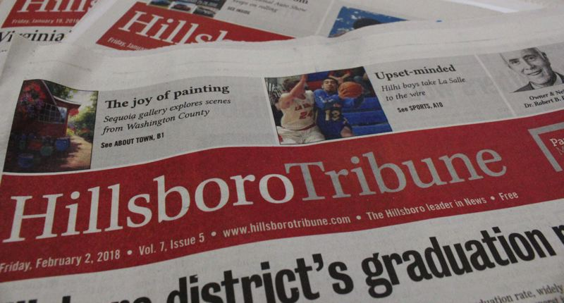 STAFF PHOTO: MARK MILLER - This is the last Friday issue of the Hillsboro Tribune. From now on, you can find the paper on local racks Wednesdays.