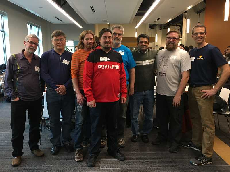 PAMPLIN MEDIA GROUP PHOTO: CLARA HOWELL  - DWFritz employees are proud to mentor and help out local robotics teams.
