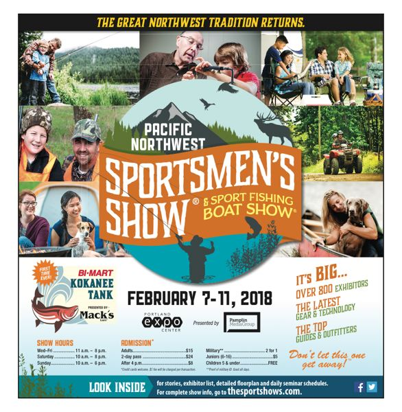 Find the complete guide to the Sportsmen's Show in this week's issue of your Pamplin Media Group weekly newspaper.