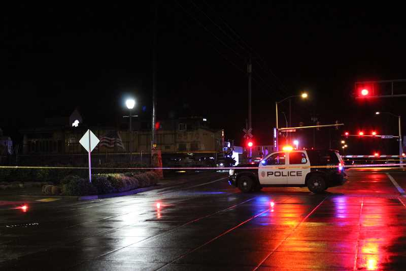 HERALD PHOTO: KRISTEN WOHLERS - A male pedestrian was struck and killed in Canby on Thursday, Feb. 1 at approximately 7:30 p.m.