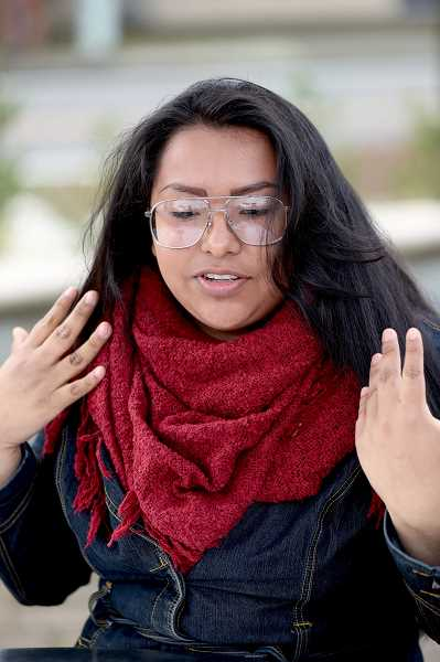 TIMES PHOTO: JAIME VALDEZ - Azucena Javier, 18, recently returned from two trips to Washington, D.C. to push for DACA reforms.