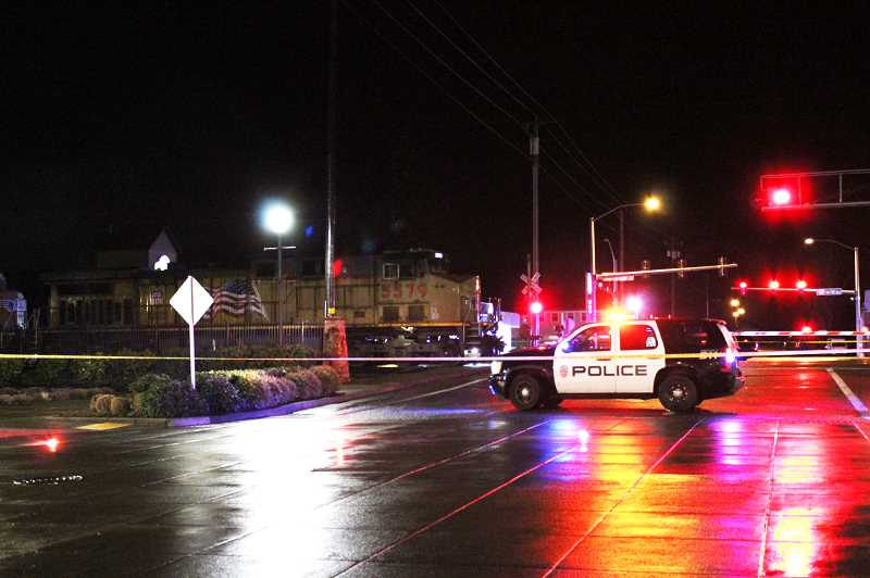 HERALD PHOTO: KRISTEN WOHLERS - A Canby 17-year-old male was struck and killed by a Union Pacific freight train on Thursday, Feb. 1.