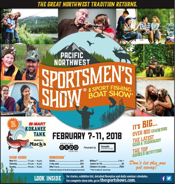 (Image is Clickable Link) Pacific NW Sportsmans Show 2018