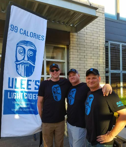 SUBMITTED: ULEES LIGHT CIDER - Ulees Light Cider owners from left to right: Matt Thompson, Scott Gallagher, Don Forsythe