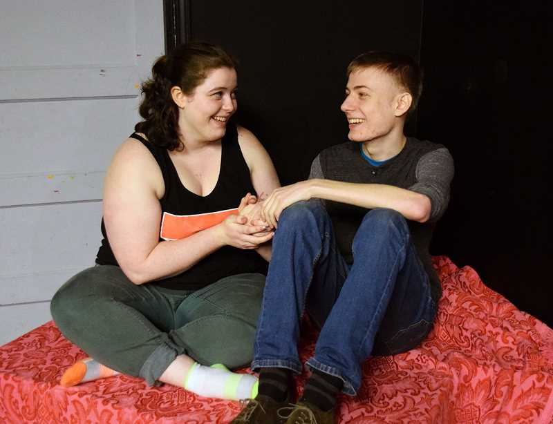 COURTESY PHOTO: REBECCA ALLEN - The first half of the play is sweet and romantic as the two leading characters fall in love.