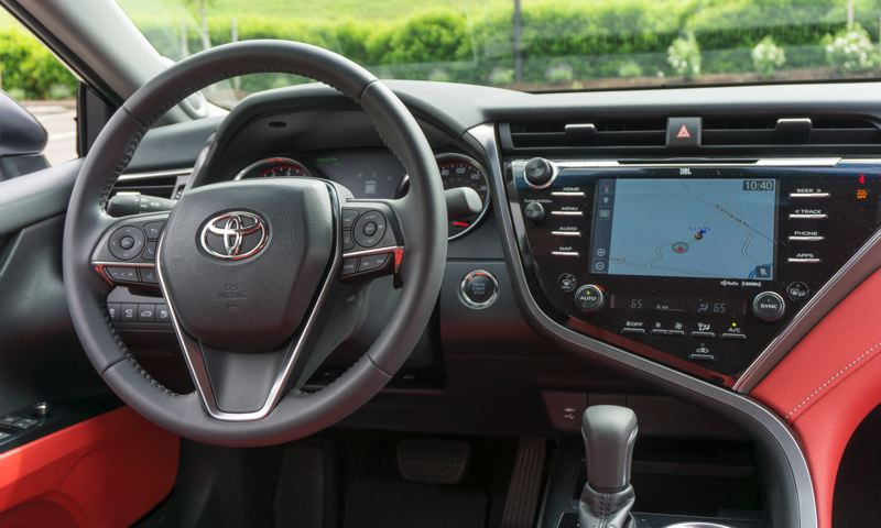 TOYOTA MOTOR COMPANY - The dash in the 2018 Toyota Camry XSE is radical and functional.