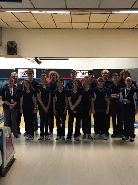 SUBMITTED PHOTO - The bowling teams will head to the state tournament in Klamath Falls after taking second place in the district tournament.