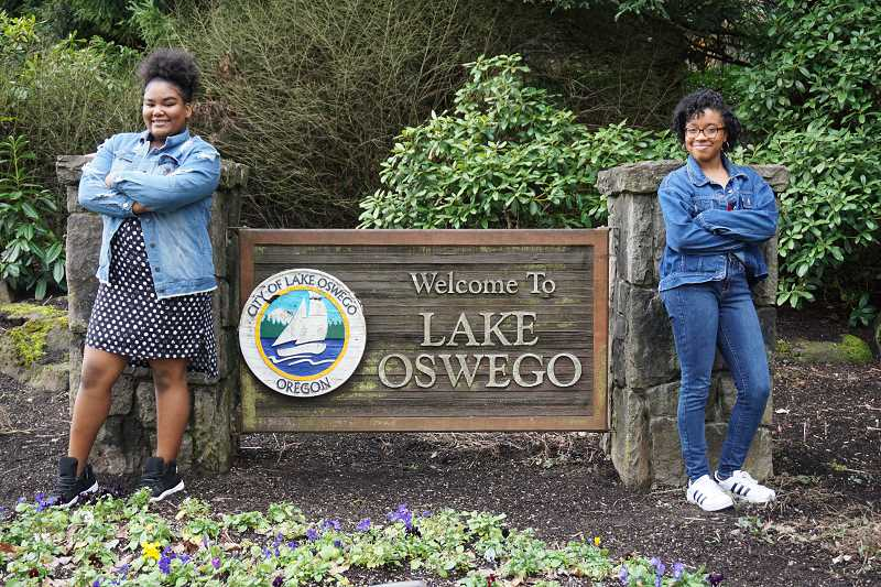 REVIEW PHOTO: CLAIRE HOLLEY - A'jialia McClure has attended school in Lake Oswego since the second grade. Dakota Webb moved to the city in 2017. 'I'm used to diverse schools, with all different races, Dakota says. 'I had to get used to it. It took a while for people to warm up to me.'