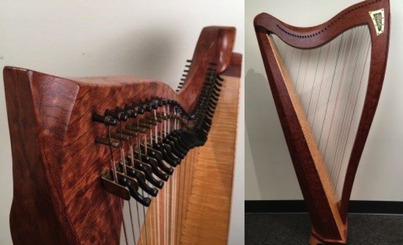 POLICE PHOTO - The Multnomah County Sheriff's Office released these photos of the recovered harp on Tuesday, Jan. 30.