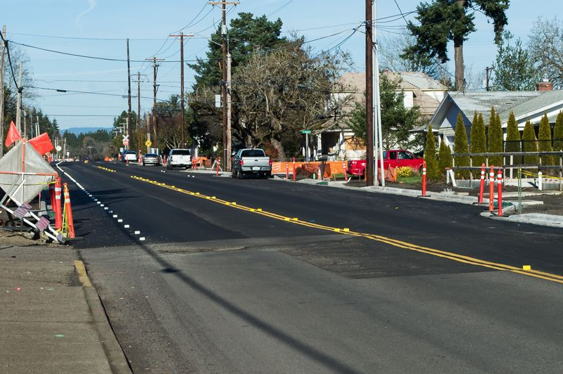 STAFF PHOTO: CHRISTOPHER OERTELL - 10th Avenue in Cornelius has been a construction zone for months. City officials hope to supplement the improvements to major thoroughfares like 10th Avenue and Adair and Baseline streets with projects to improve pedestrian, bicycle and motor vehicle safety and travel throughout Cornelius.