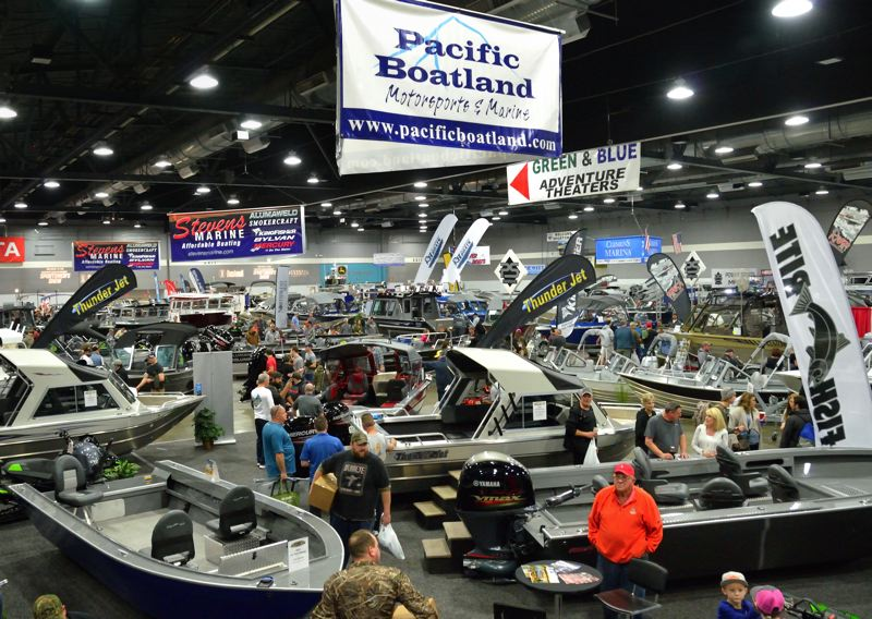 COURTESY: PACIFIC NORTHWEST SPORTSMEN'S SHOW - Fishing boats of all kinds are on display at the Pacific Northwest Sportsmen's Show.