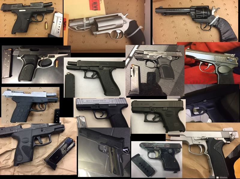 CONTRIBUTED PHOTO: PORTLAND POLICE BUREAU - County law enforcement seized 17 firearms in the last two weeks during a new safety operation.