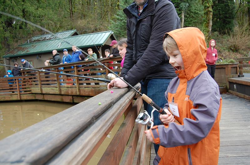CONTRIBUTED PHOTO: ASSOCIATION OF NORTHWEST STEELHEADERS - Fishing is fun! Family Fish Camp will be held at Camp Angelos along the Sandy River in Corbett.