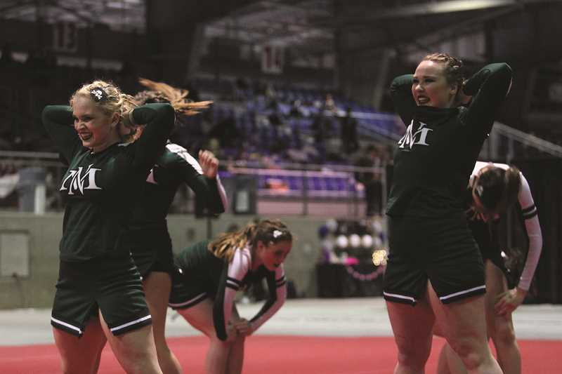 PHIL HAWKINS - The North Marion cheer team placed third at the Oregon Elite Classic Saturday at the Salem Pavilion at the Oregon State Fairgrounds in Salem. The competition was the final event before the 2018 Cheer State Championships in Portland this weekend. The Huskies placed fourth at last year's state competition and have been a top-five team in three of the past four seasons.
