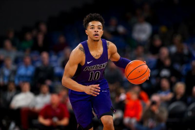 COURTESY: UNIVERSITY OF PORTLAND - The play of freshman point guard Marcus Shaver Jr. helped the Portland Pilots sweep two West Coast Conference games last week.