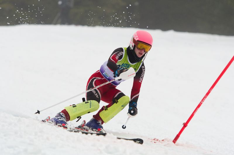 MIKE JULIANA/FOR THE TIMES - Lucy Yusem helped the Tigard girls finish in third place in Saturday's Metro League slalom race.