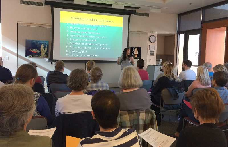 SUBMITTED PHOTO - The first 'Conversation Projects' lecture hosted by the West Linn Alliance for Inclusive Community took place last October and was a surprising success. The lecture series returns Feb. 17.