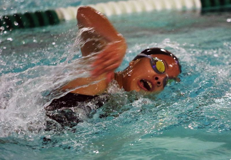 DAN BROOD - Tualatin's Taylor Cockrell picked up a win in the 200-yard freestyle event.