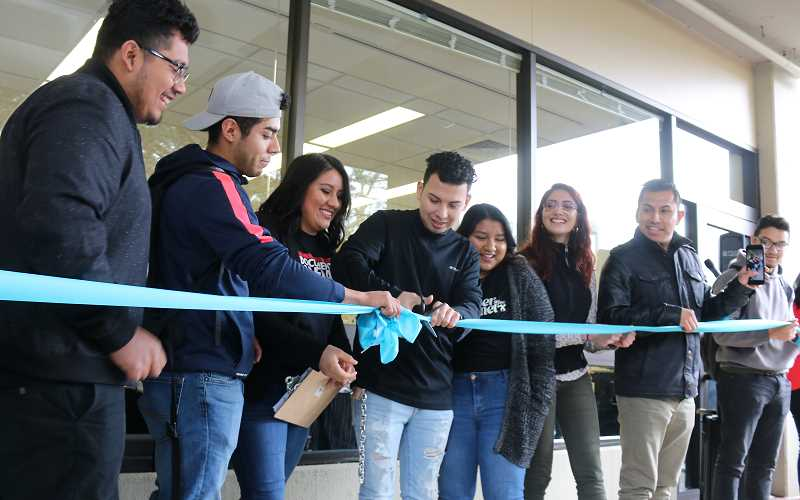 SUBMITTED PHOTO  - Portland Community College DACA students cut the ribbon at the opening of the DREAM Center, a resource facility that focuses on empowerment, support and retention of DREAMers and their families.