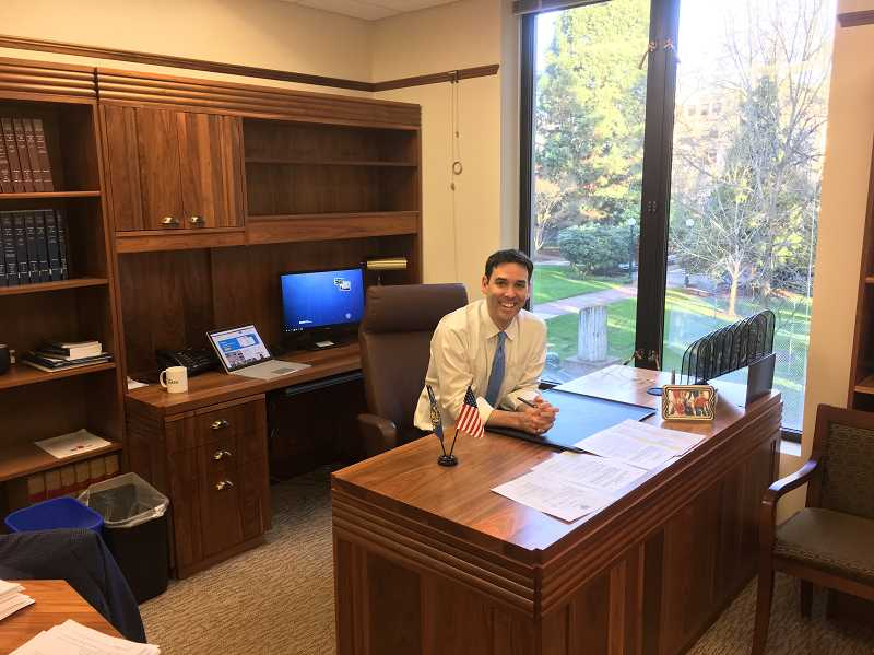 PHOTO COURTESY OF ROB WAGNER - As the appointee serving out the remainder of Richard Devlins term, state Sen. Wagner says he inherited the senior lawmakers corner office — but only until the end of the year.