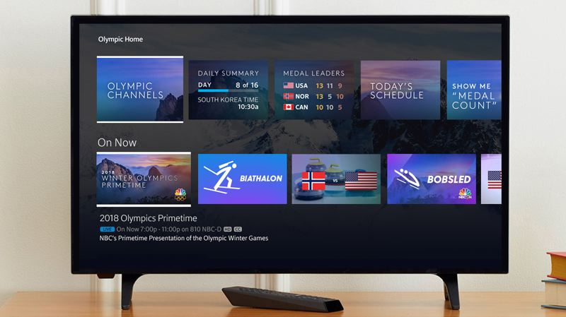 COURTESY: COMCAST - Comcast is going big with the Winter Olympics, using its own technology to make content from NBC (which Comcast owns) easily accessible.