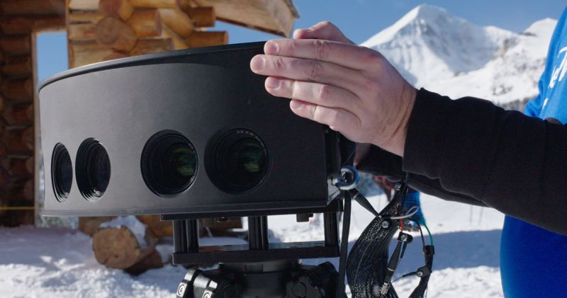 COURTESY: INTEL/COMCAST - Intel has been filming Winter Olympians with multiple array high definition camera pods, to create virtual reality and 360-degree video content on the NBC Sports VR app.