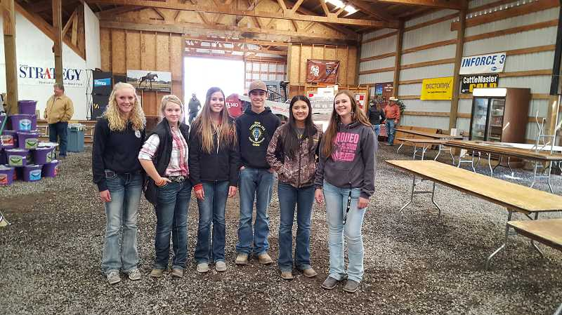 CROOK COUNTY FFA - Crook County FFA members help out at the Central Oregon Ranch Supply tradeshow each year.