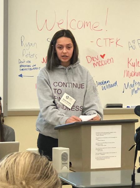 Emma Shafer, a freshman at OCHS and CTFK board member, talks about how being unkind can affect a student's ability to get accepted into college.