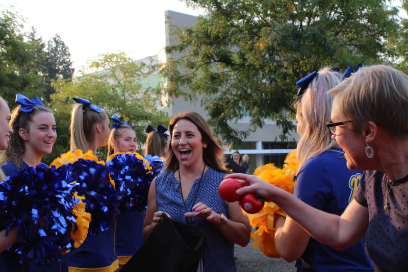 OUTLOOK FILE PHOTO - New teachers are welcomed to the district with a rally and some swag, another Perera innovation to recognize staff.