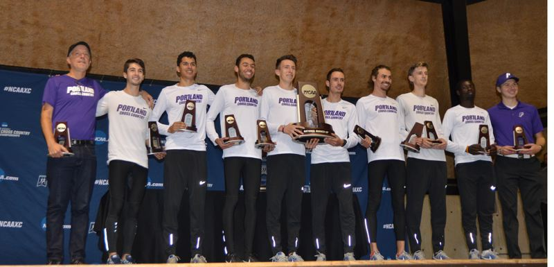 COURTESY: UNIVERSITY OF PORTLAND - The Portland Pilots men's cross country team of 2017, which finished second at the NCAA championships.