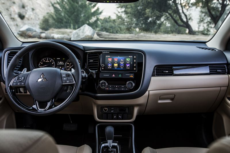 COURTESY MITSUBISHI - The interior of the 2018 Mitsubishi Outlander is clean and simple, with easy to understand and use controls.